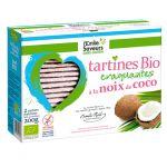Tartines craquantes au noix de coco