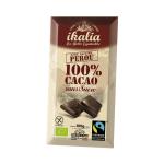 Tablette de chocolat noir 100% de cacao