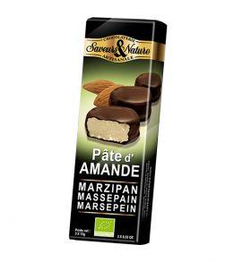 Bouchées Amandines pâte d'amande enrobées de chocolat noir